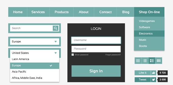 Metro Style Web UI