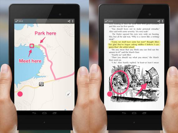 Skitch: Escribir sobre imágenes en Android