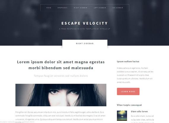 Escape Velocity: Theme HTML5 corporativo