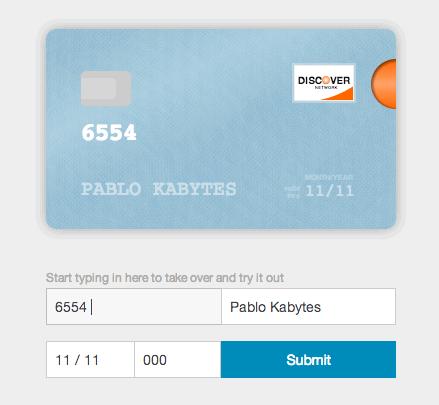 formulario tarjeta de credito