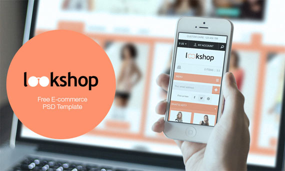 LookShop: Theme e-commerce gratis PSD