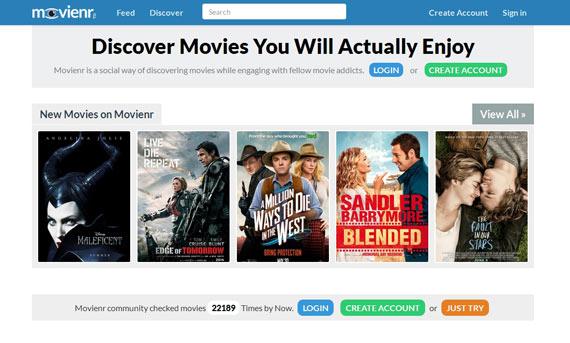 Movienr: recomendación de películas online