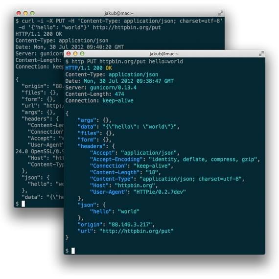 solicitudes HTTP desde la linea de comandos