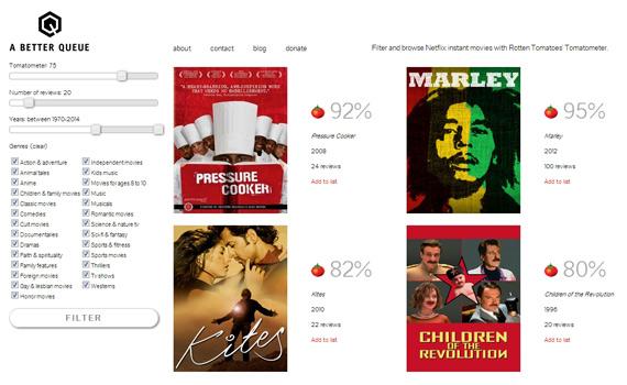 A Better Queue: Encuentra películas en Netflix