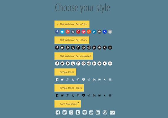 Generador de iconos sociales online