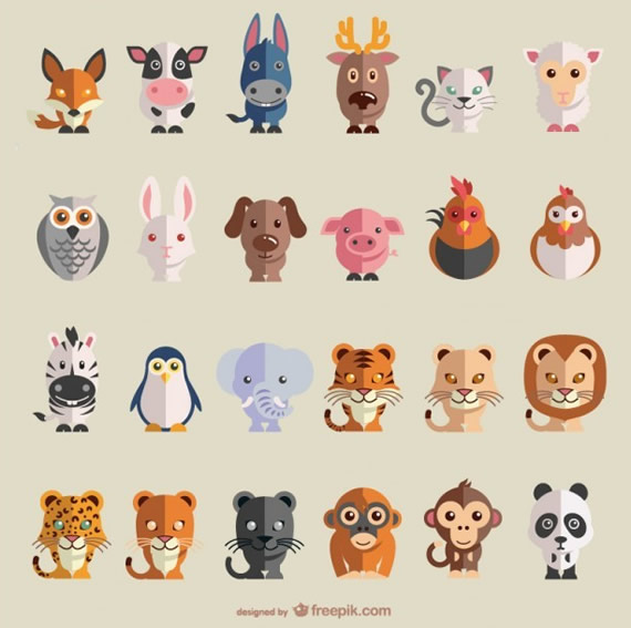 Animals Vector Flat