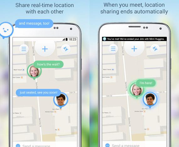 Jink: Compartir tu ubicación en Android