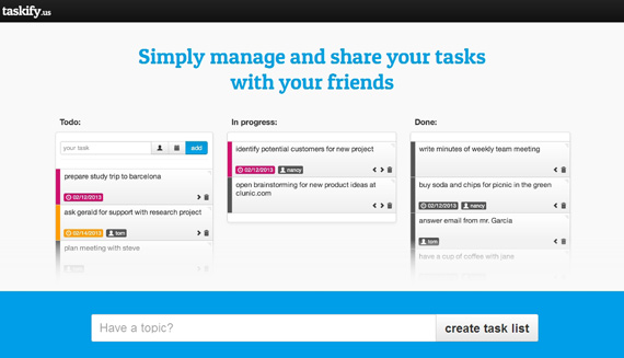 Listas de tareas para organizar proyectos grupales