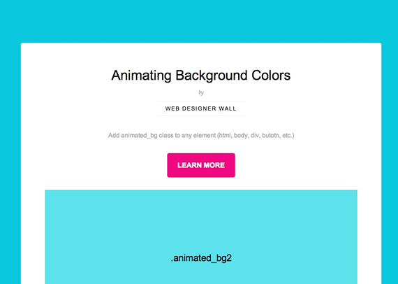 Animated Color Backgrounds