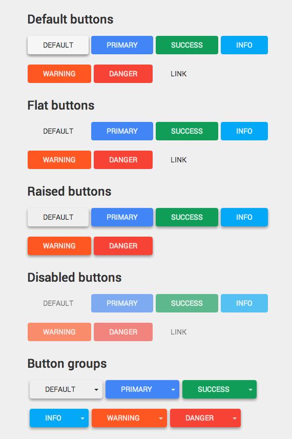 botones estilo material design