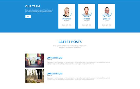Plantilla PSD editable para empresas