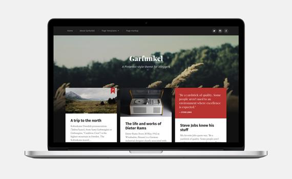 Theme gratis para WordPress estilo Pinterest