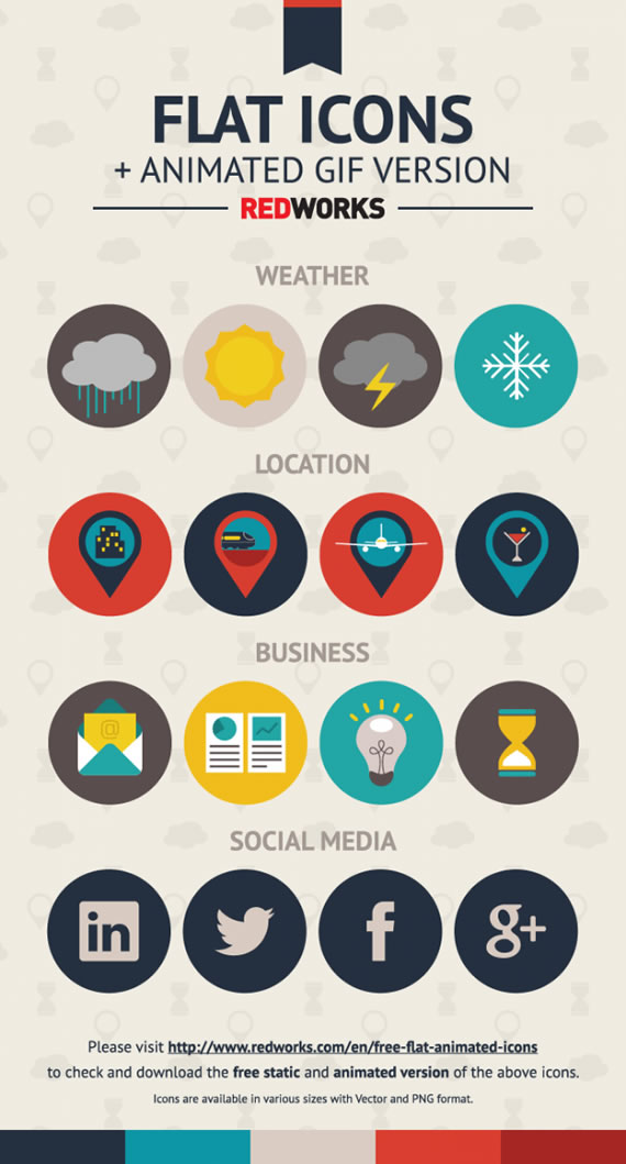 Free Flat and Animated Icons