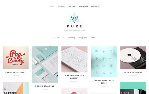 Pure: WordPress Template