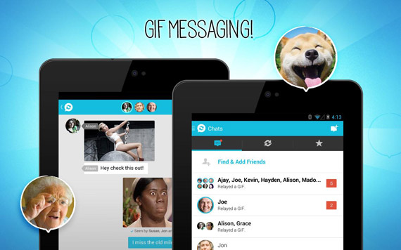 Chat con GIFs para Android e iOS