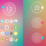 Reloj minimalista para Android