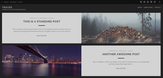 Themes gratis para WordPress: Tracks