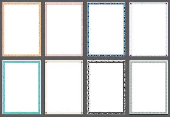 Hojas A4 decoradas para imprimir - Central Friki 2.0