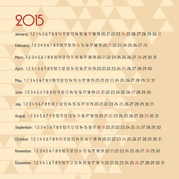 Mosaic Calendar 2015