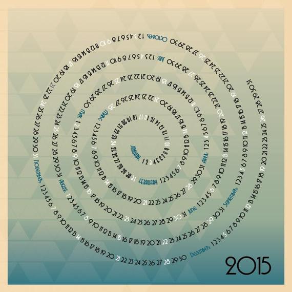 Spiral Mosaic Calendar 2015