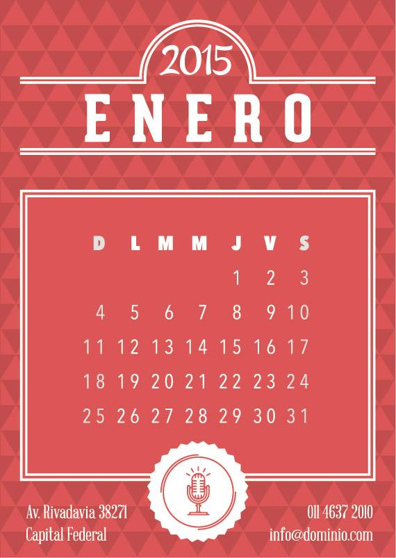 Tarjetas Mensuales Calendario 2015