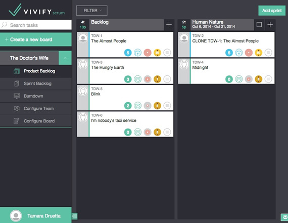 Vivify Scrum: gestor de proyectos online