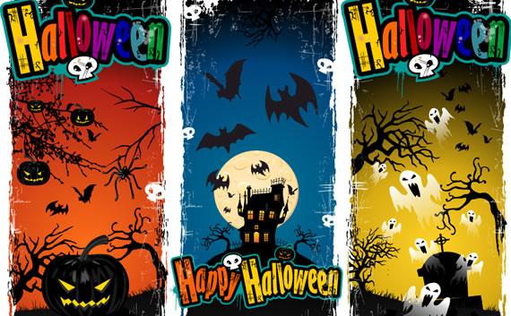 Banners de Halloween Verticales