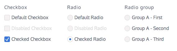 checkbox y radio animados