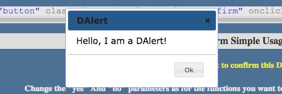 ejemplo de dalert