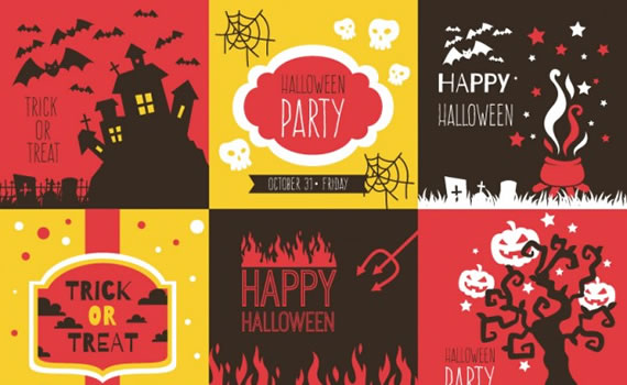 Colorful Backgrounds Pack for Halloween