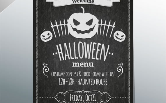 Halloween Menu Blackboard