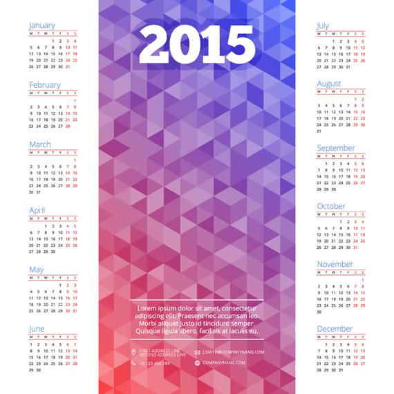 Plantillas para calendarios 2015 vectorizados - Central Friki 2.0