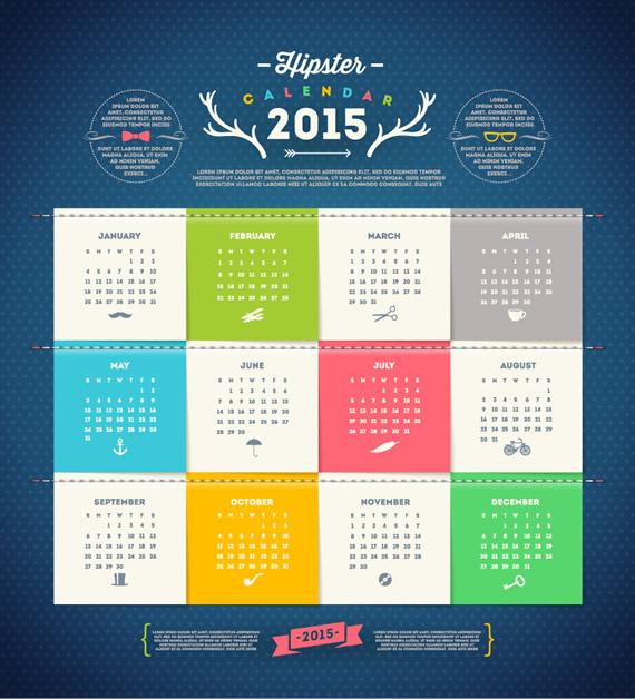 Tarjetas de Calendario 2015