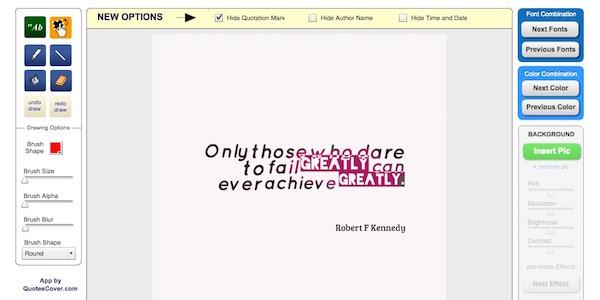Frases en imágenes con Quotescover.com