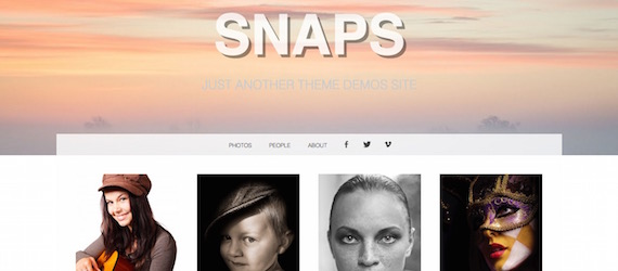 Snaps: plantilla simple para WordPress