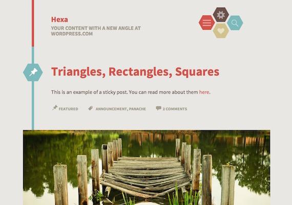 Hexa: plantilla liviana para WordPress con formato de post