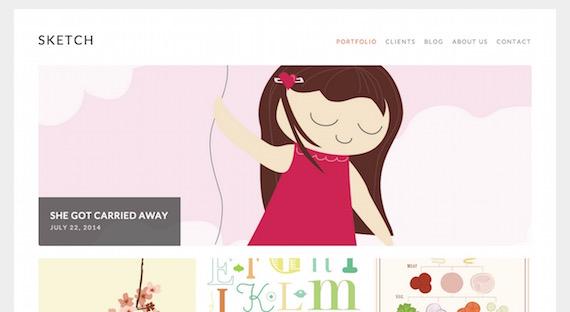 Sketch: plantillas livianas para WordPress