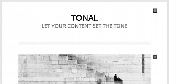 Tonal: plantilla liviana para wordpress