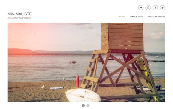 Minimaliste - plantillas livianas para WordPress