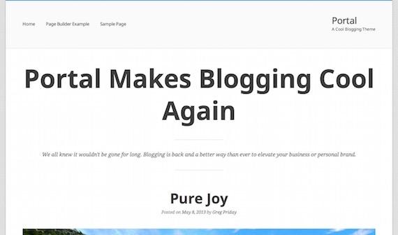 Portal: plantilla liviana para WordPress