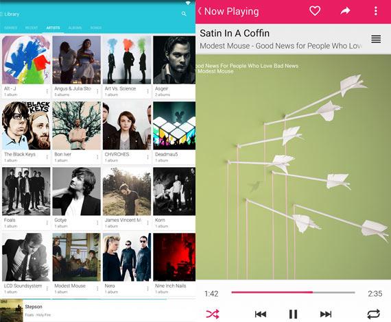 Aplicaciones Android para escuchar música