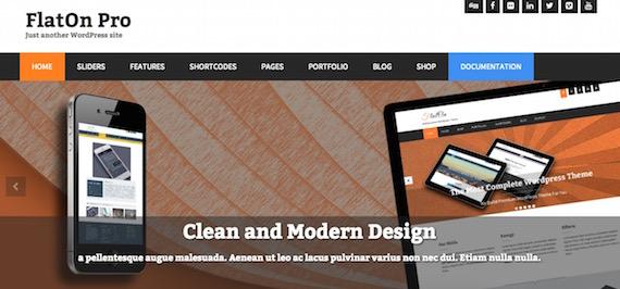 FlatOn: plantillas livianas para WordPress