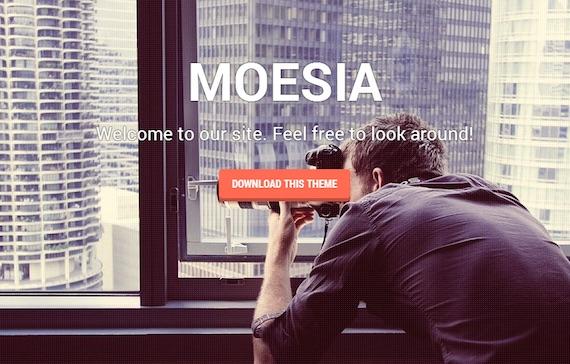 Moesia: plantilla liviana para WordPress