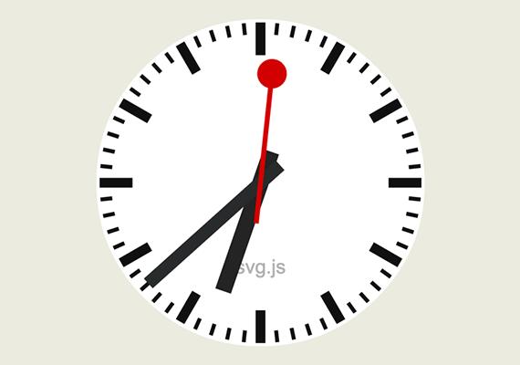 reloj animado svg