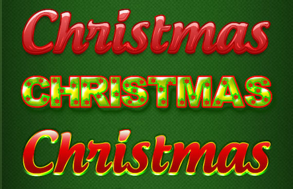 Christmas Photoshop Text Effects