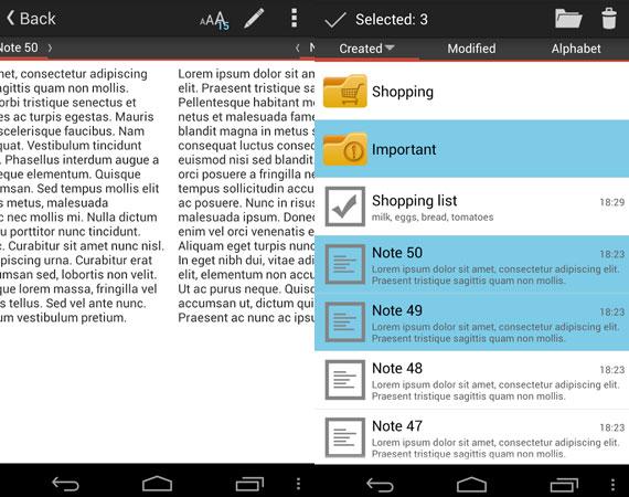 Aplicaciones de notas para Android