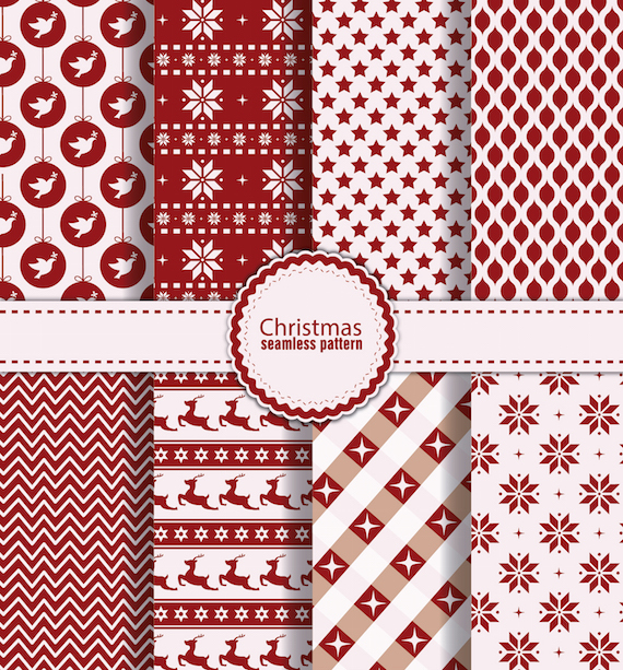 8 Christmas Seamless Patterns