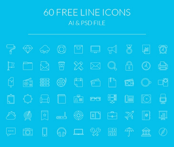 Modern Lines Icons