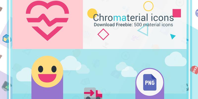 Paquete de iconos planos para Material Design