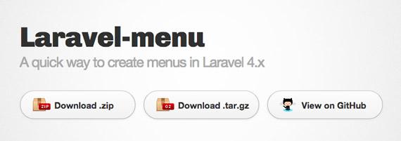 menu laravel